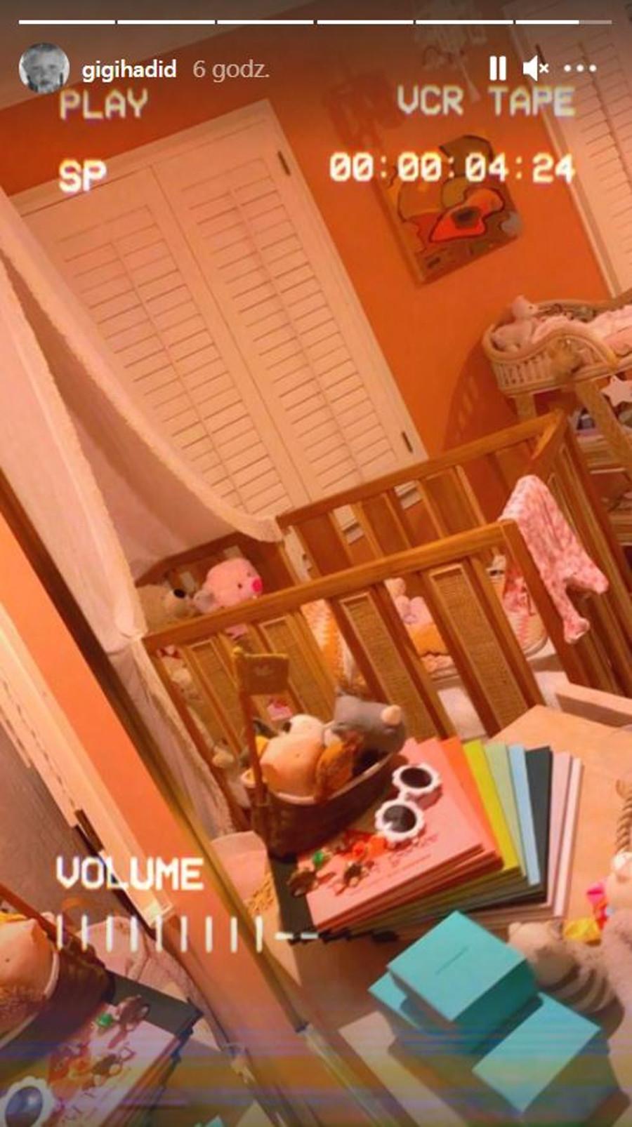 Gigi Hadid pochwaliła się świeżo wyremontowanym pokojem córki.