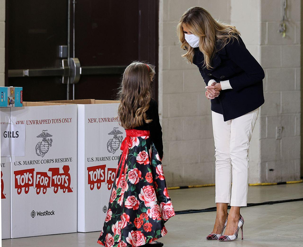 Melania Trump z dziewczynką