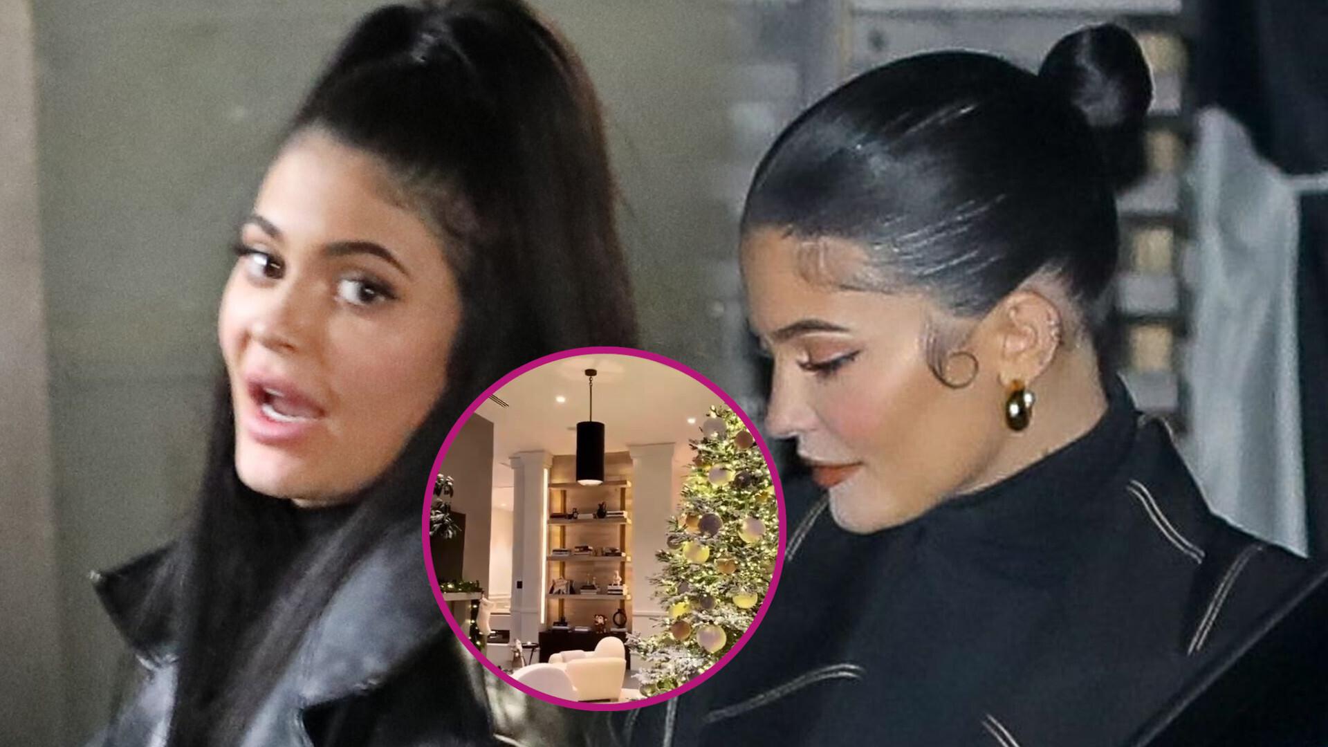 Dekoracje świąteczne w willi Kylie Jenner. Kilkumetrowa choinka, oświetlona palma i misie polarne