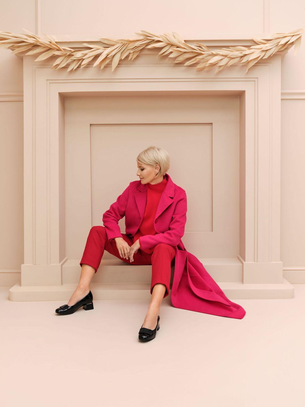 Małgorzata Kożuchowska w różowej stylizacji