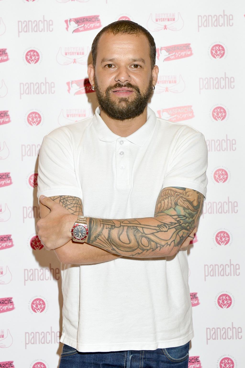 Michał Piróg pokazał tatuaże.