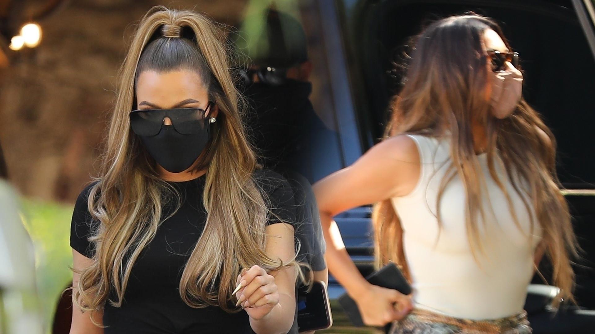 Dawno niewidziane Kardashianki na spotkaniu z przyjaciółką – Khloe jest coraz CHUDSZA! (ZDJĘCIA)