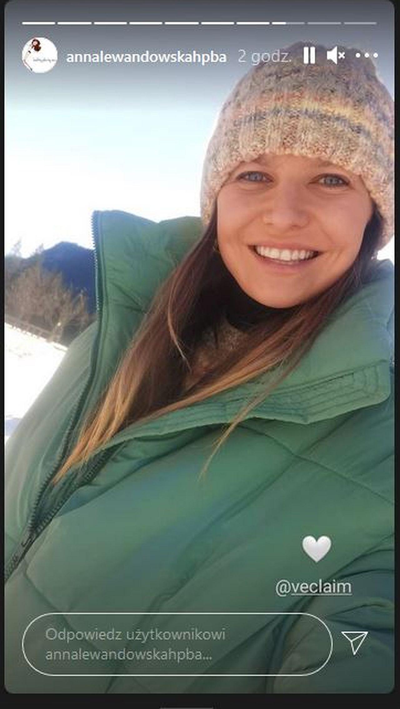 Anna Lewandowska w górach