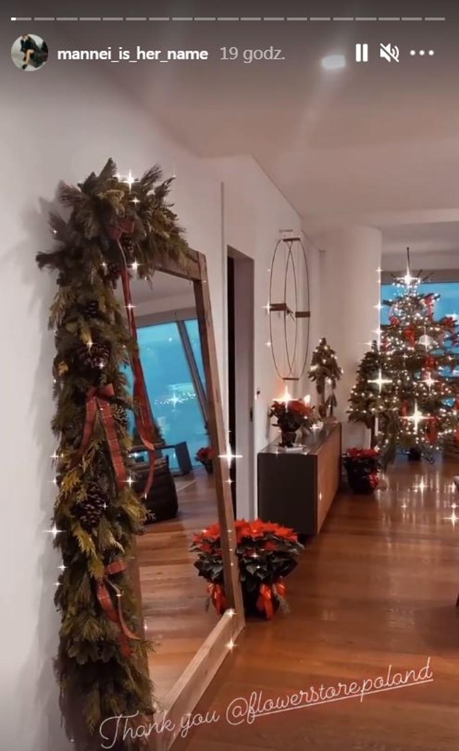 Świąteczne mieszkanie Sary Boruc.