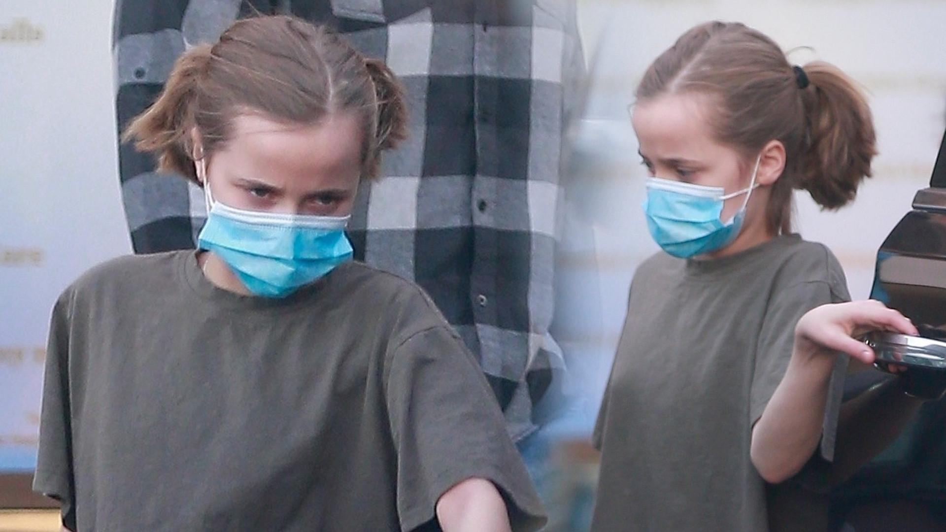 12-letnia Vivienne Jolie-Pitt załatwia sprawy – córka aktorów nie wychodzi sama z domu (ZDJĘCIA)