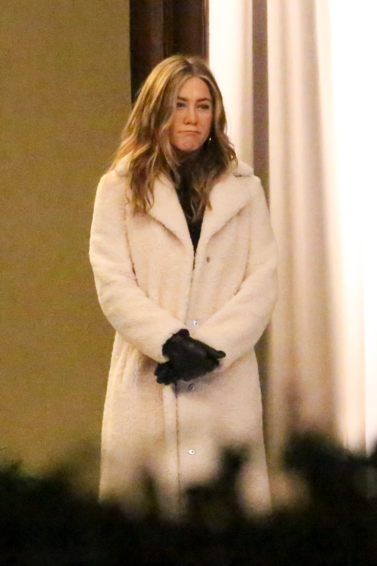 "Jennifer Aniston na planie ""The Morning Show"", fot. BACKGRID / Backgrid USA / Forum"