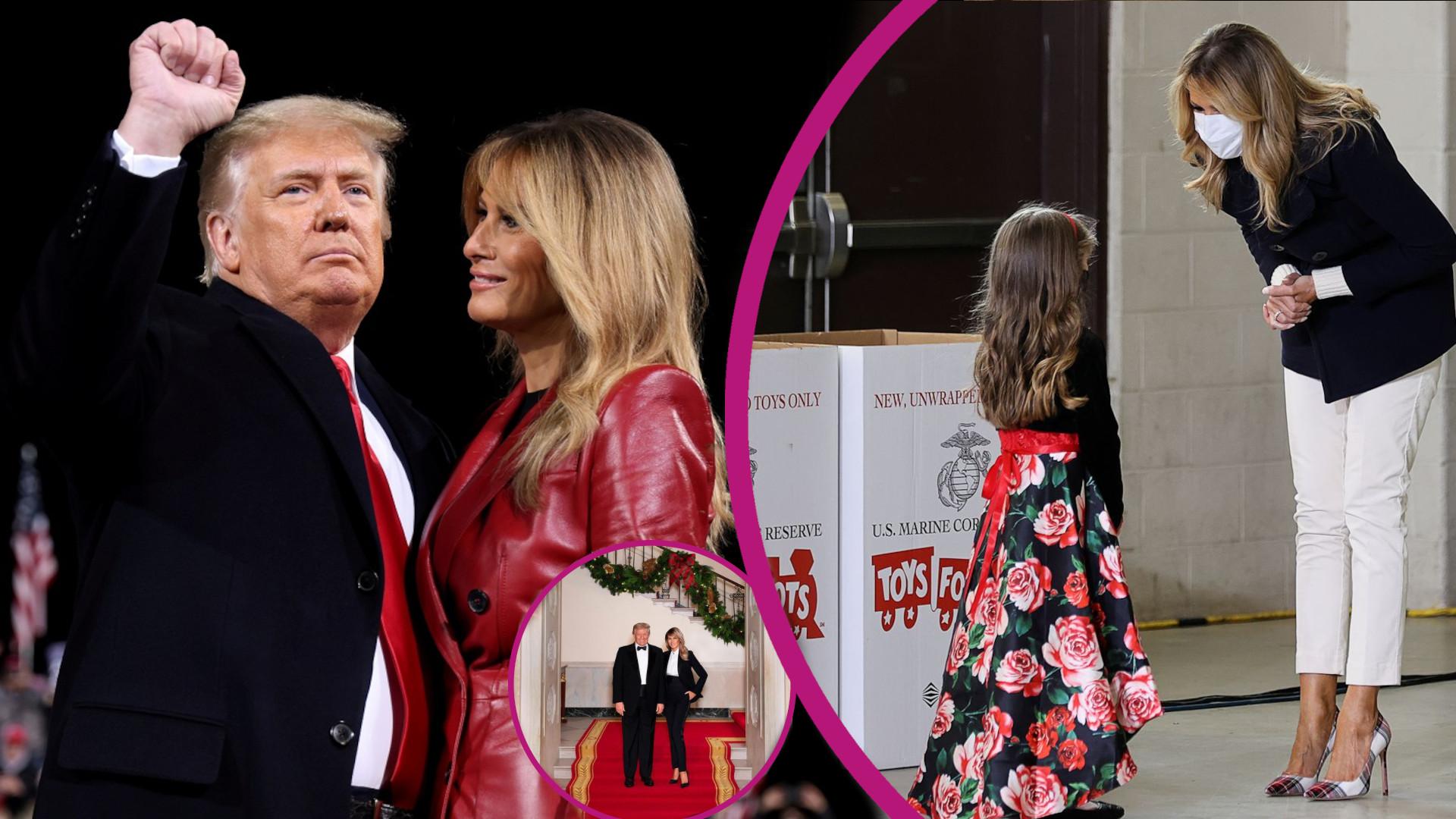 Ostatnie święta Trumpów w Białym Domu. Melania wyglądała jak BARMANKA