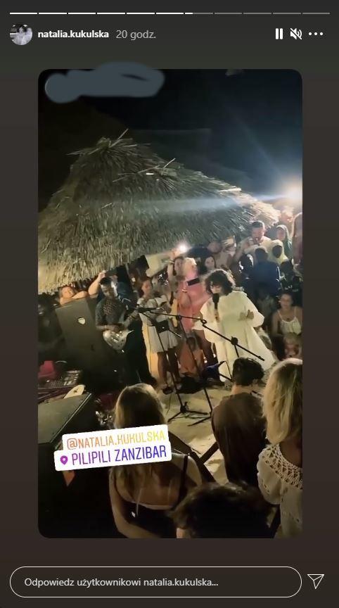 Natalia Kukulska na spontanicznym koncercie, fot. Instagram @natalia.kukulska
