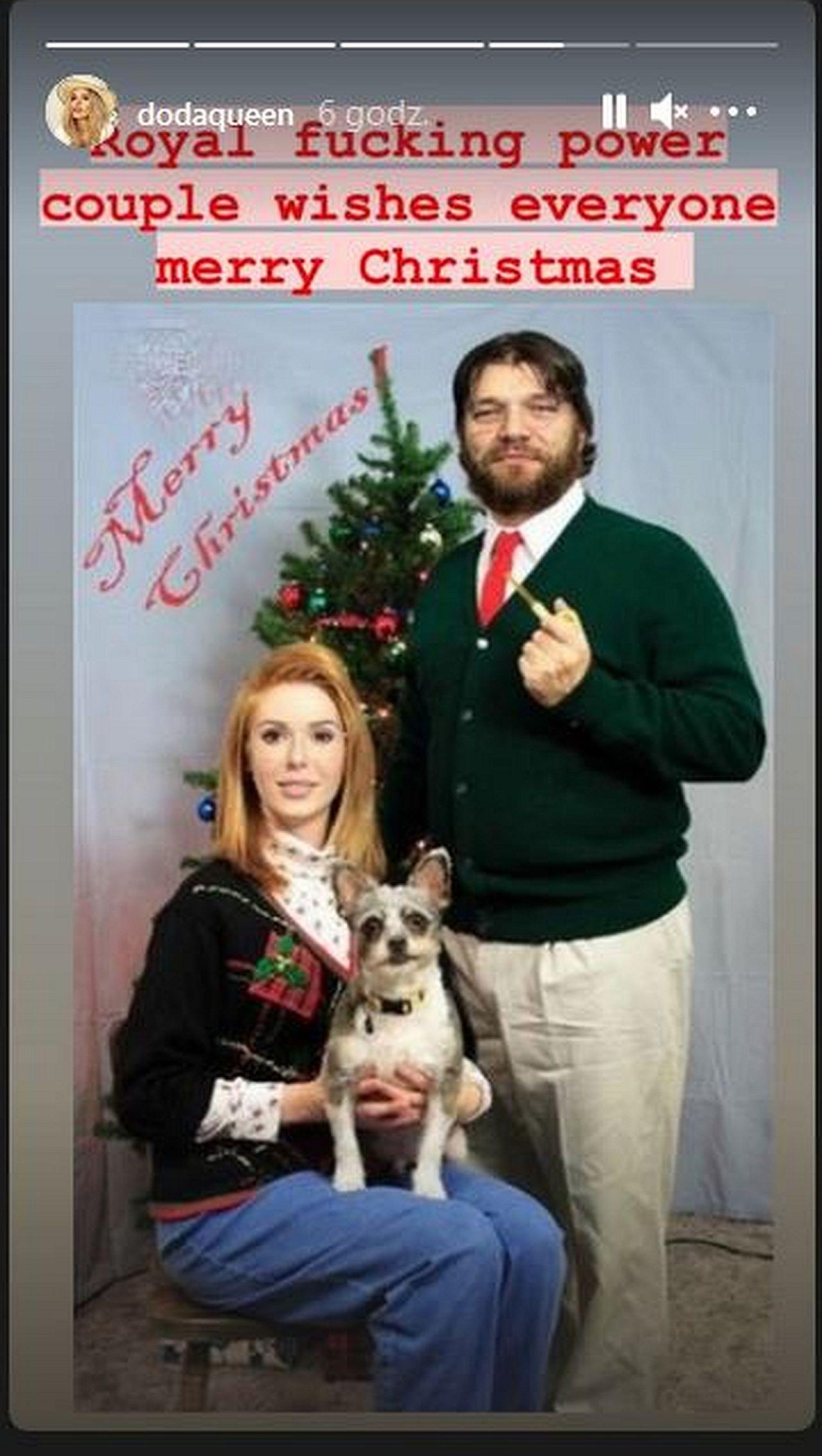 Świąteczna kartka Dody i Emila