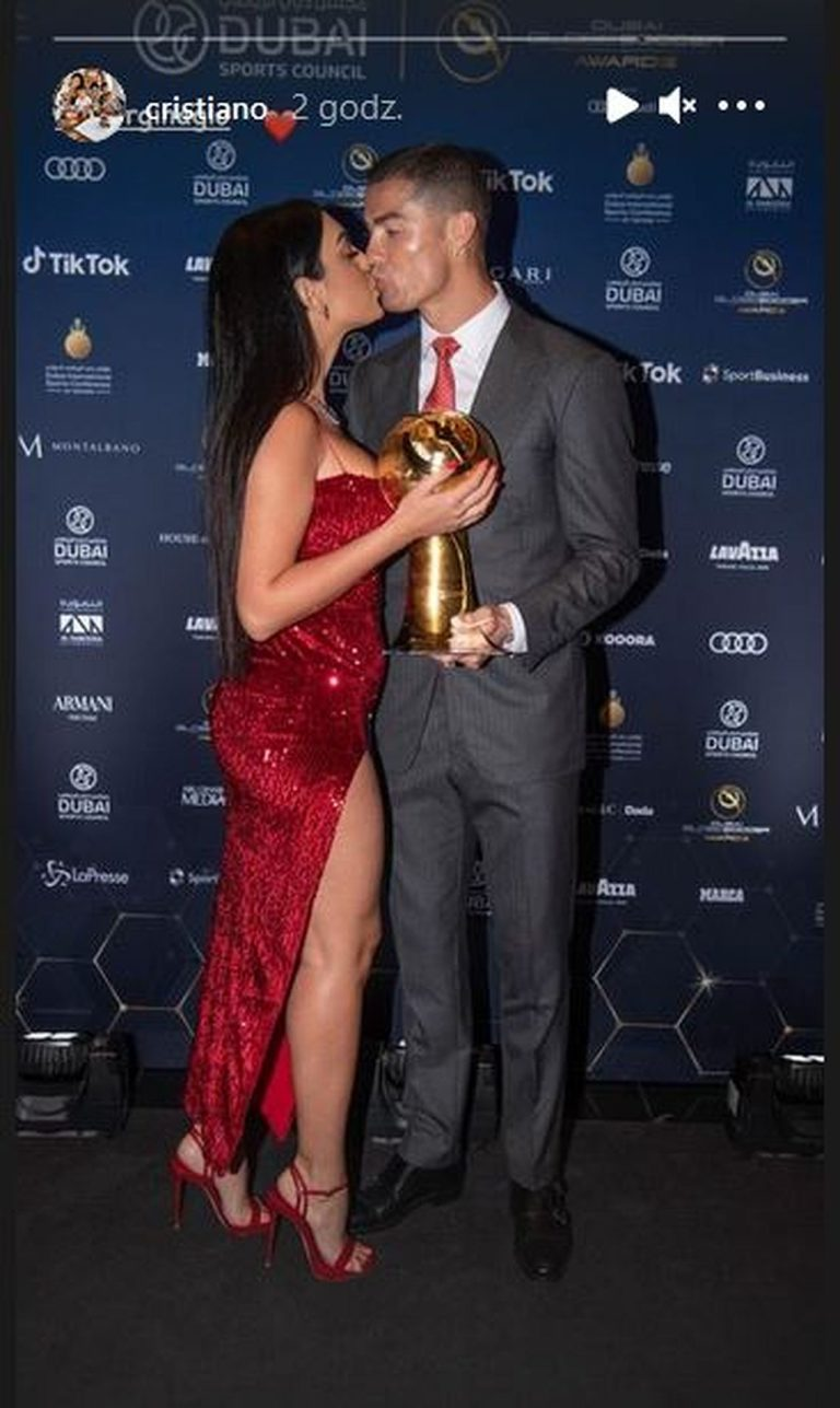 Cristiano Ronaldo z Georginą Rodriguez na gali Globe Soccer Awards