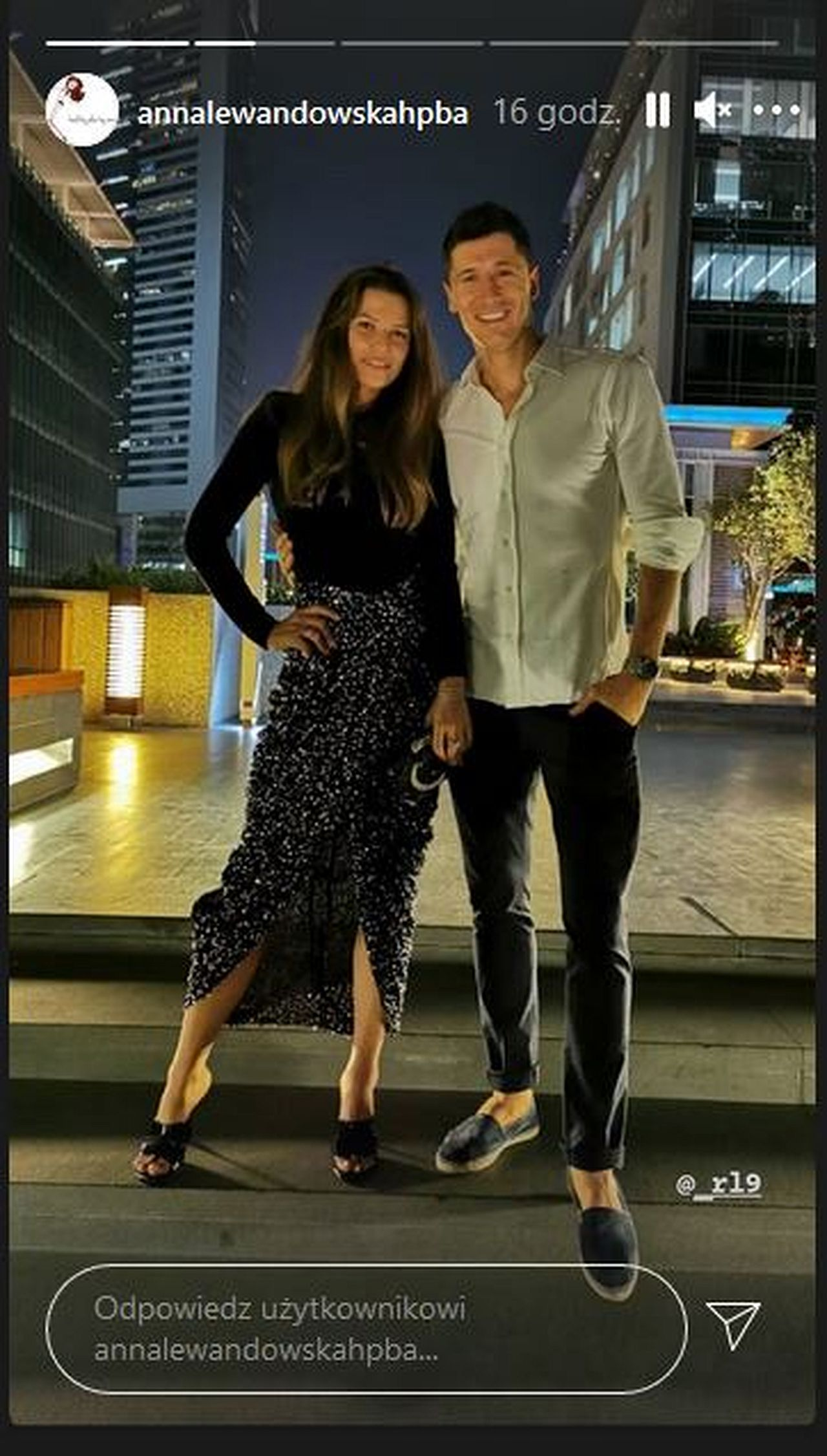 Anna i Robert Lewandowscy w Dubaju
