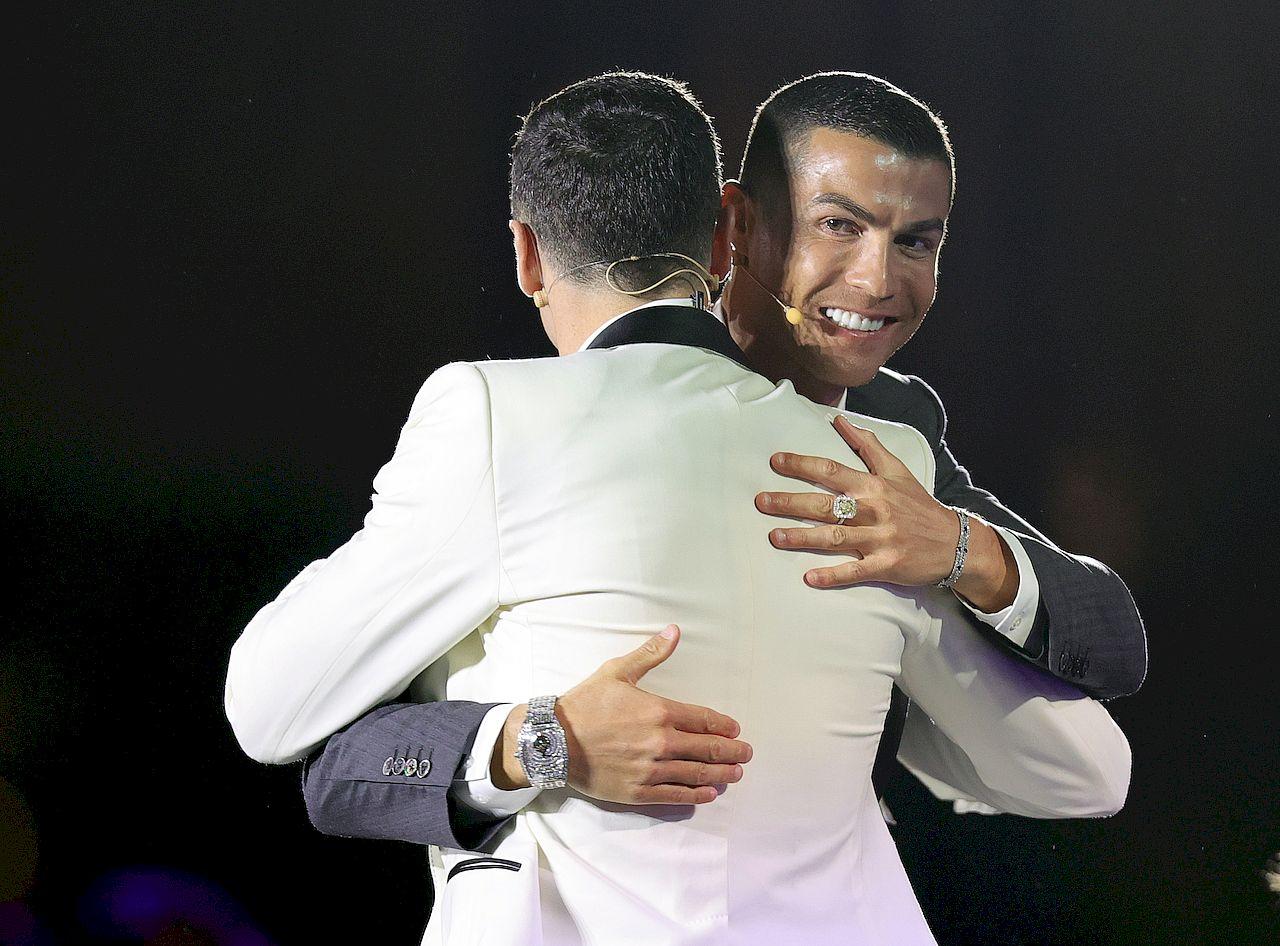 Globe Soccer Awards - Robert Lewandowski i Cristiano Ronaldo