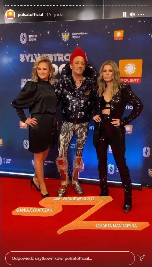 Anna Świątczak, Marta Wiśniewska i Michał Wiśniewski, fot. Instagram