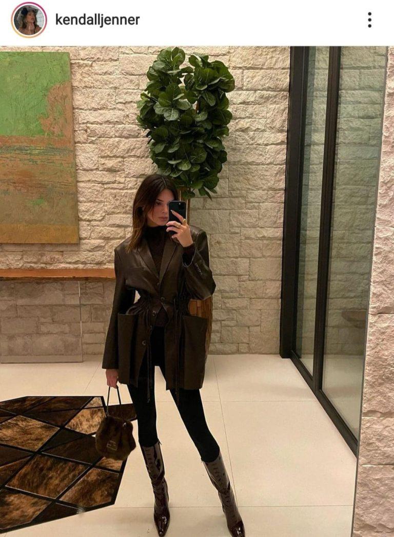Kendall Jenner robi zdjęcie w lustrze