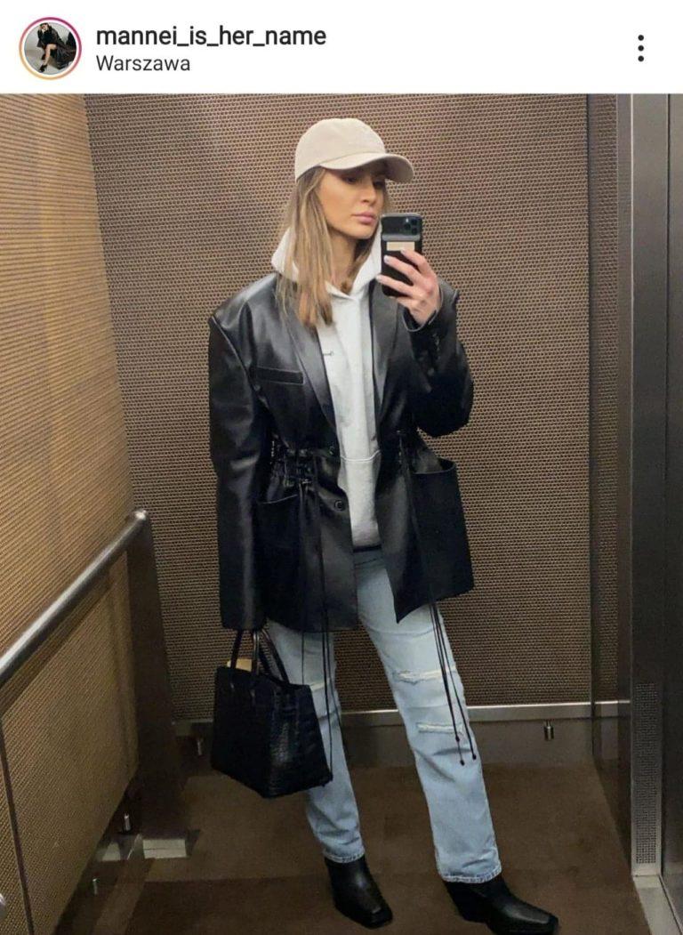 Sara Boruc w windzie