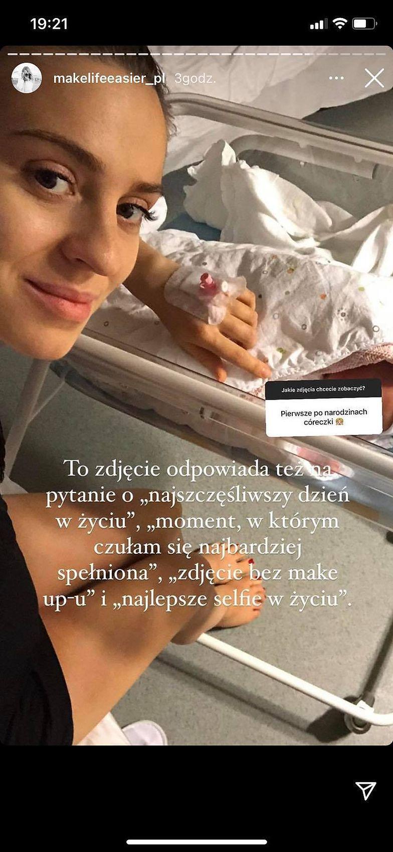Kasia Tusk na Zdjęciu z porodówki