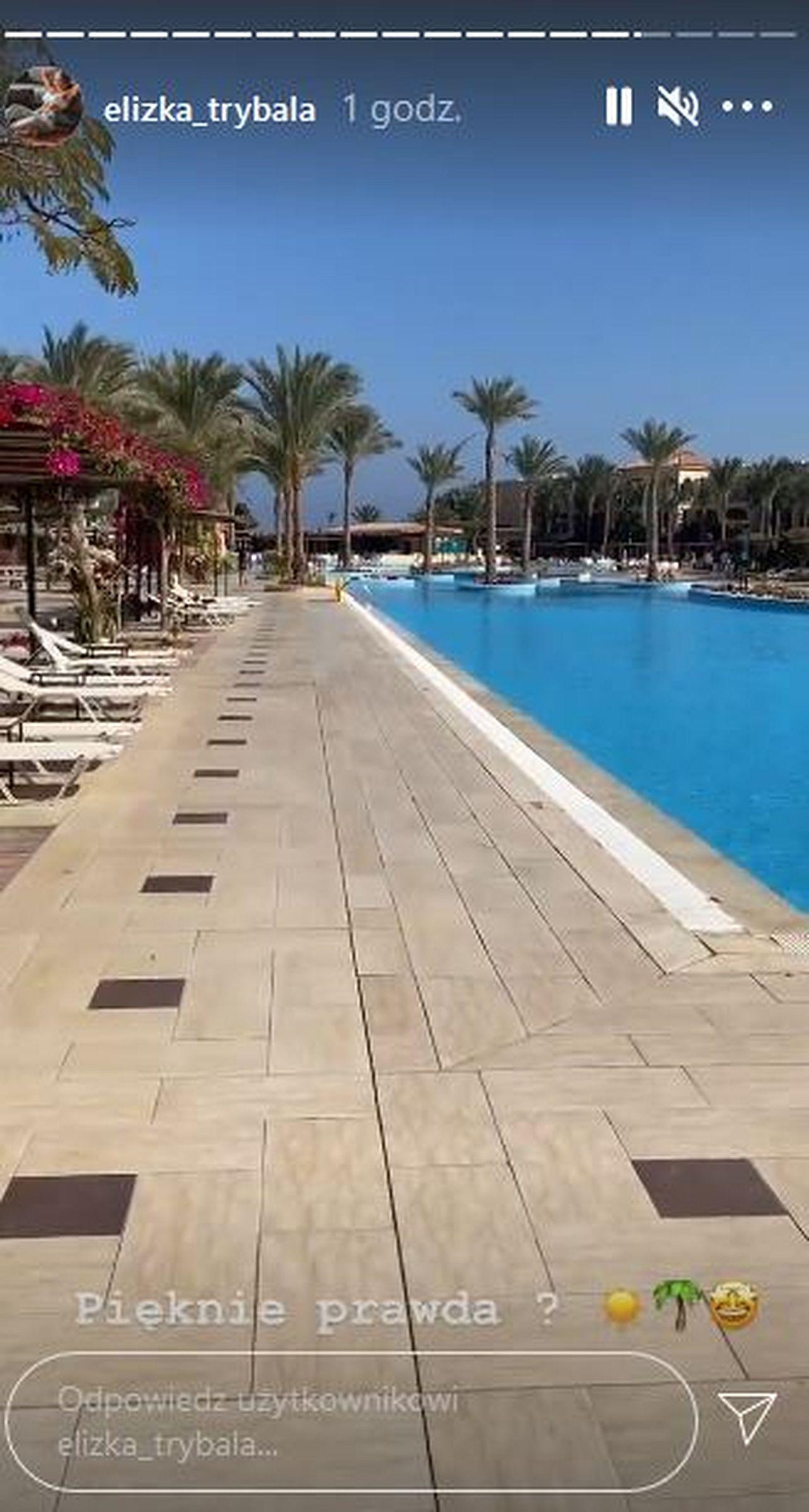 Eliza Trybała na wakacjach w Egipcie