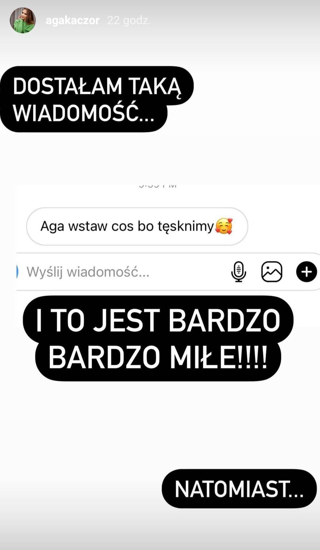 Wpis Agnieszki Kaczorowskiej