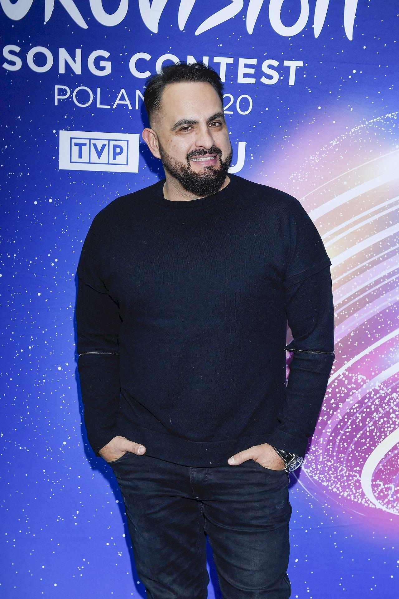 Agustin Egurrola podczas Eurowizji