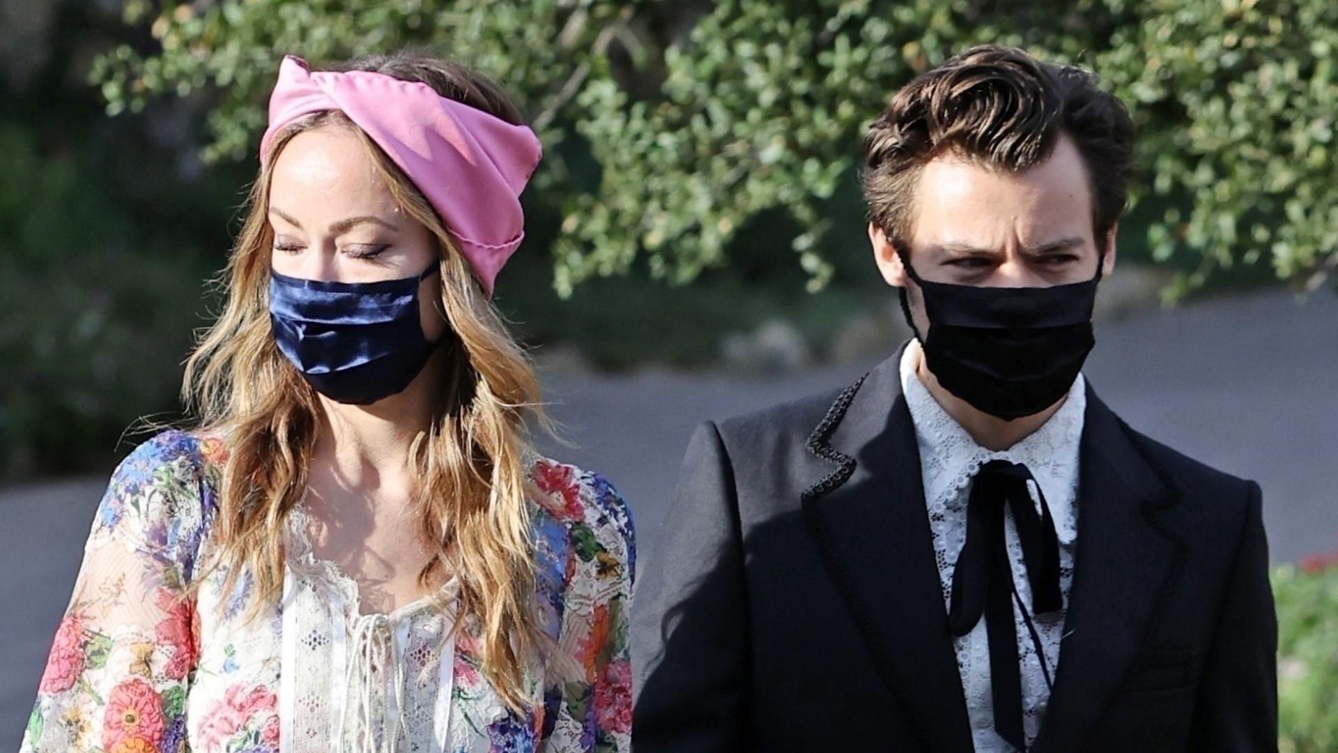 Harry Styles i Olivia Wilde OFICJALNIE razem na ślubie. Aktorka w pięknej kreacji (ZDJĘCIA)
