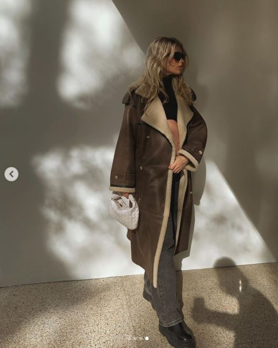 Ciężarna Elsa Hosk w projekcie Sary Boruc.