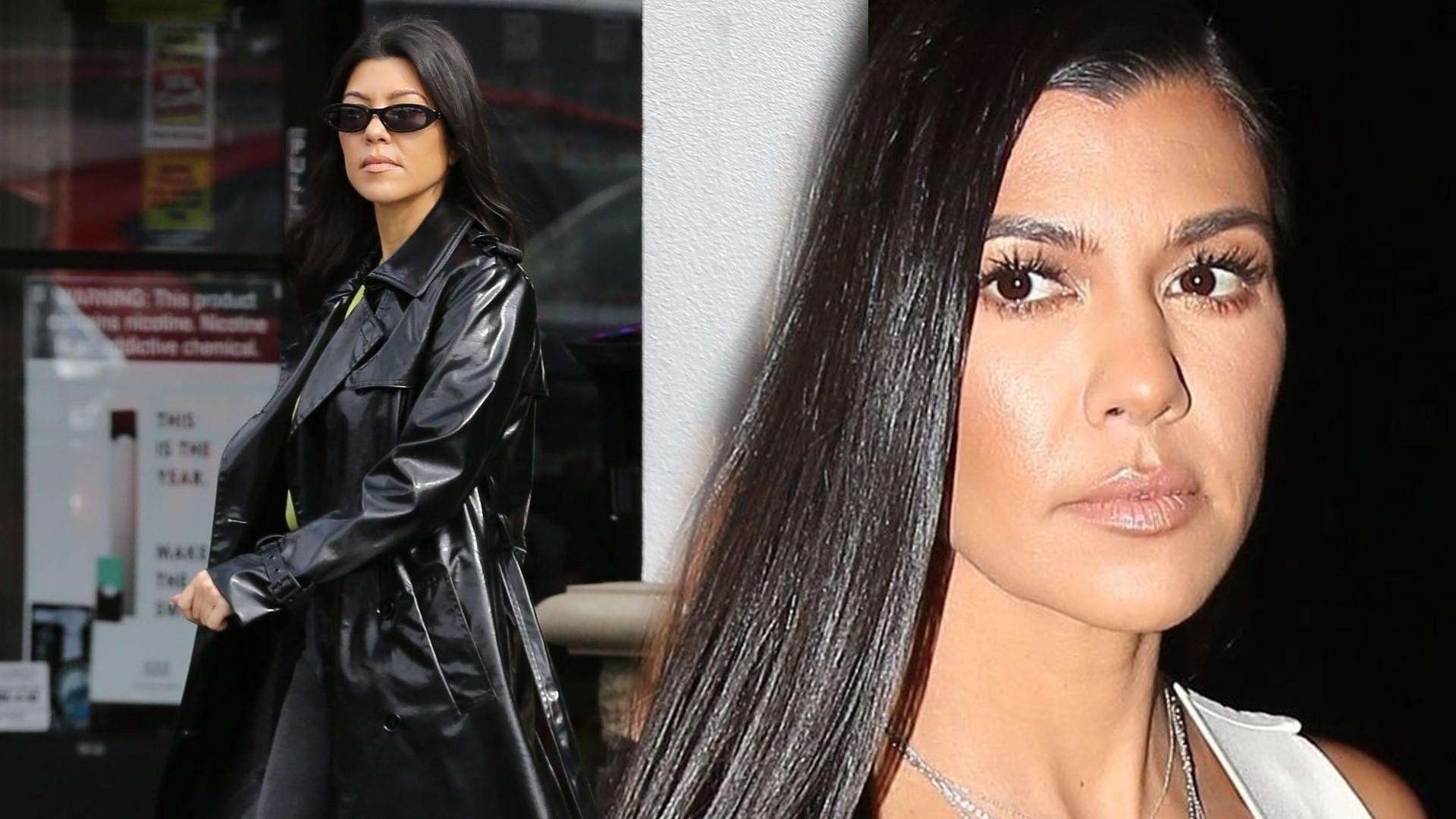 """Kourtney Kardashian w krótkiej mini. WOW, co za figura: """"Zabójczy look"""""""