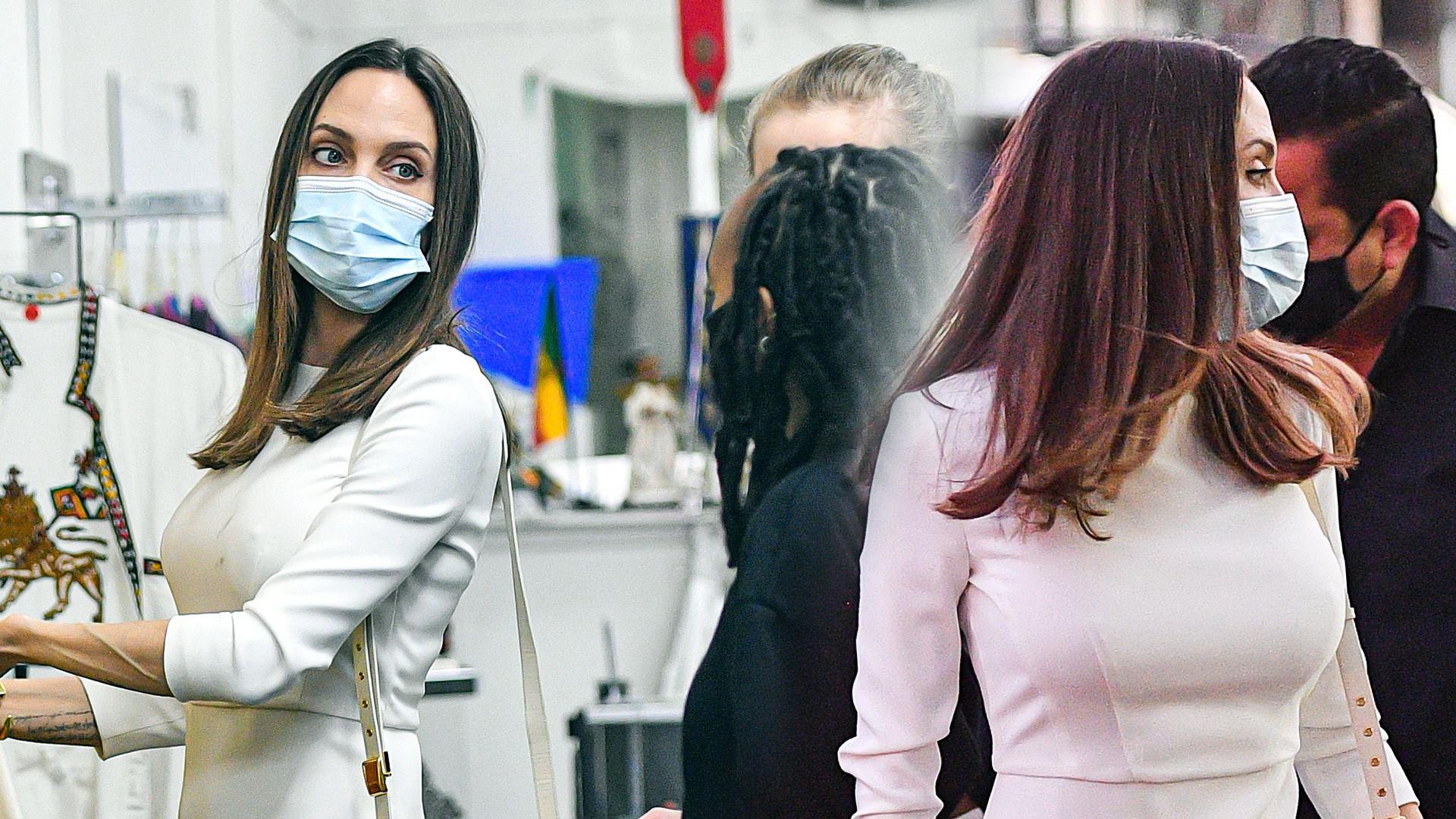 Angelina Jolie na zakupach z córkami – Shiloh i dawno niewidzianą Zaharą (ZDJĘCIA)