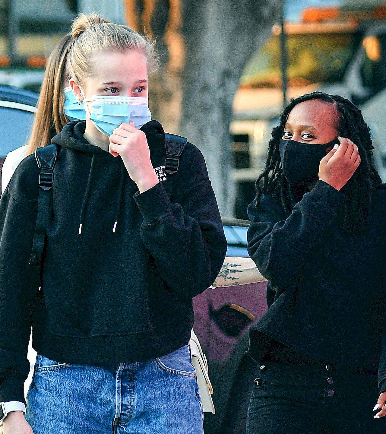Shiloh i Zahara - córki Angeliny Jolie