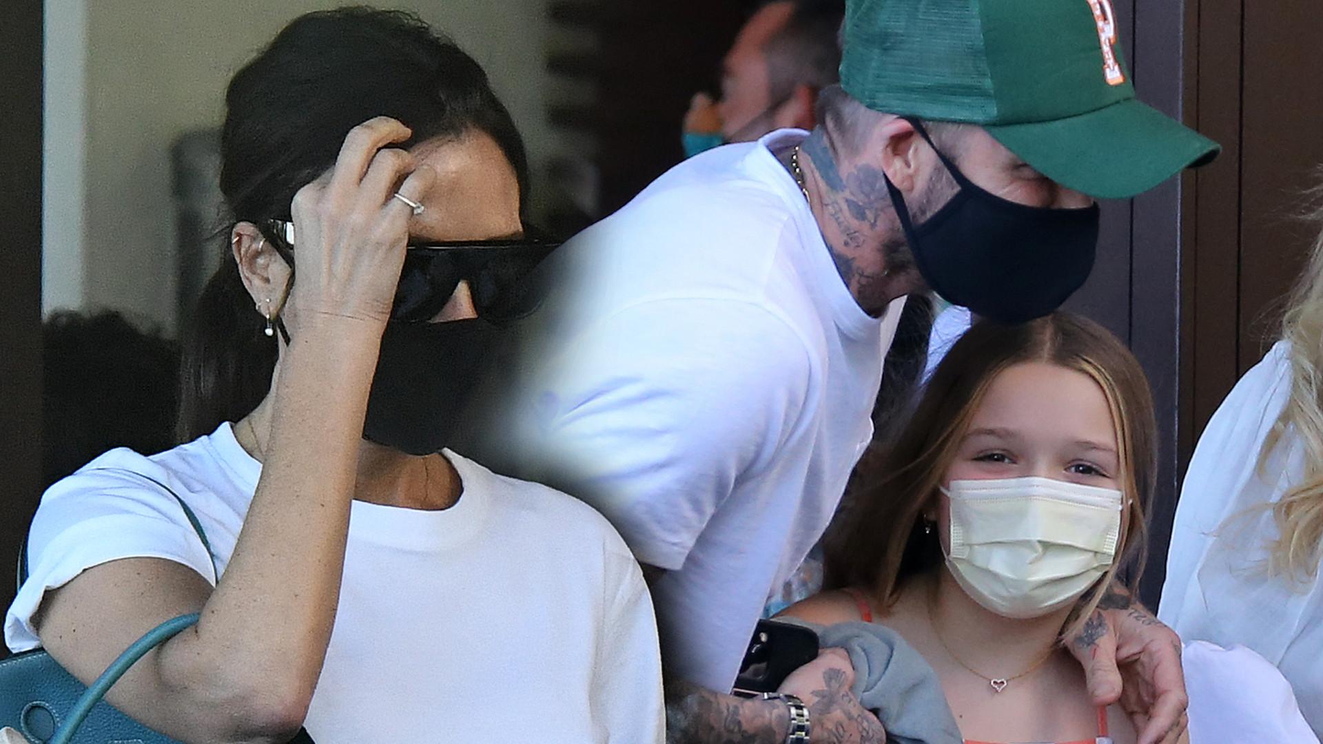 Beckhamowie z dziećmi w zatłoczonej restauracji w Miami (ZDJĘCIA)