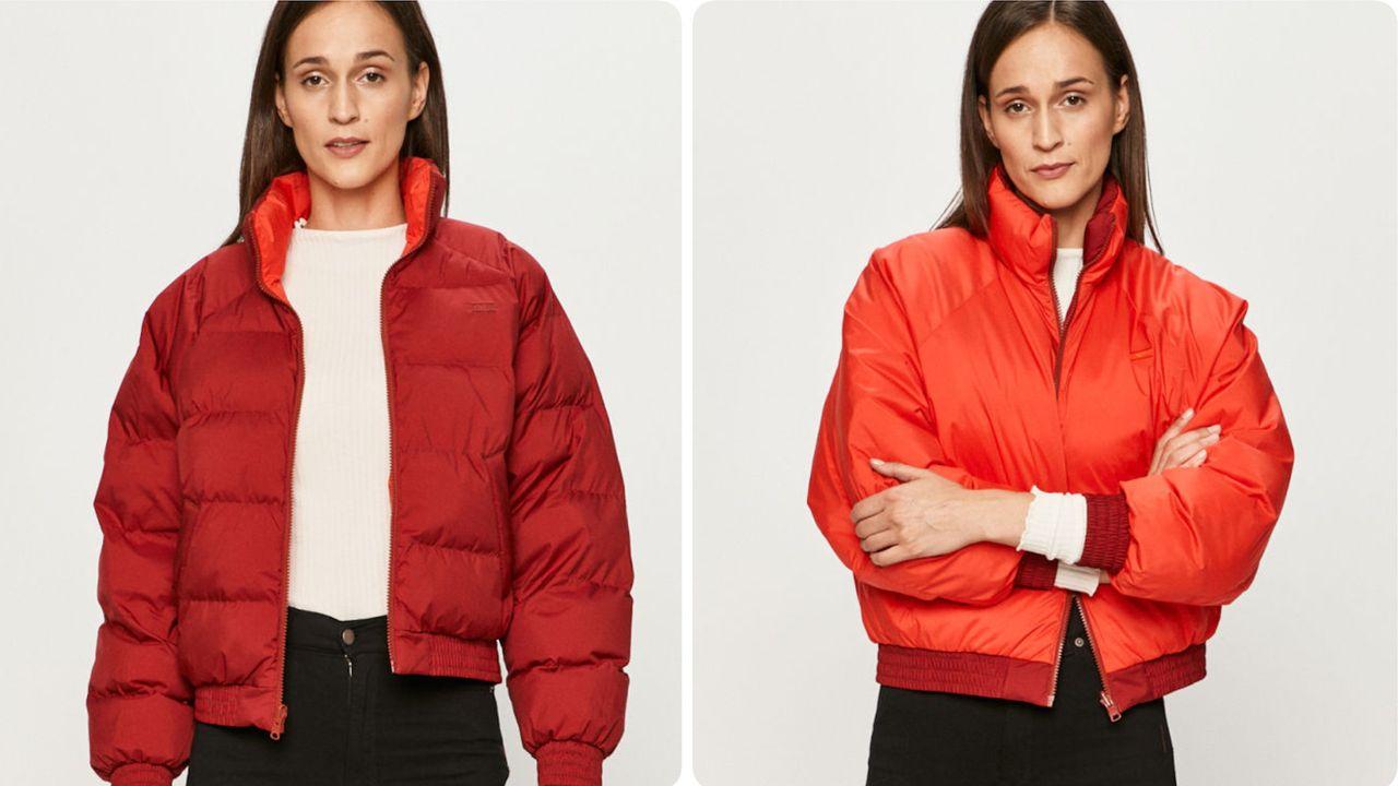 Czerwona kurtka na zimę