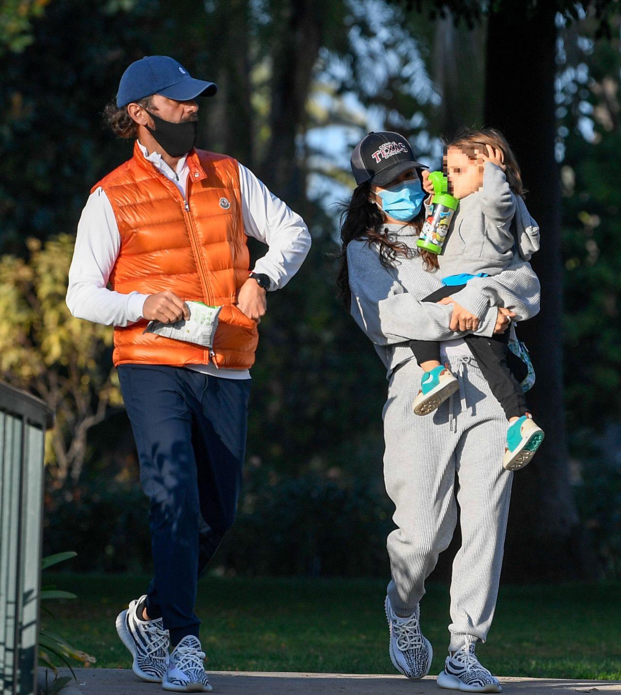 Eva Longoria z mężem i synem