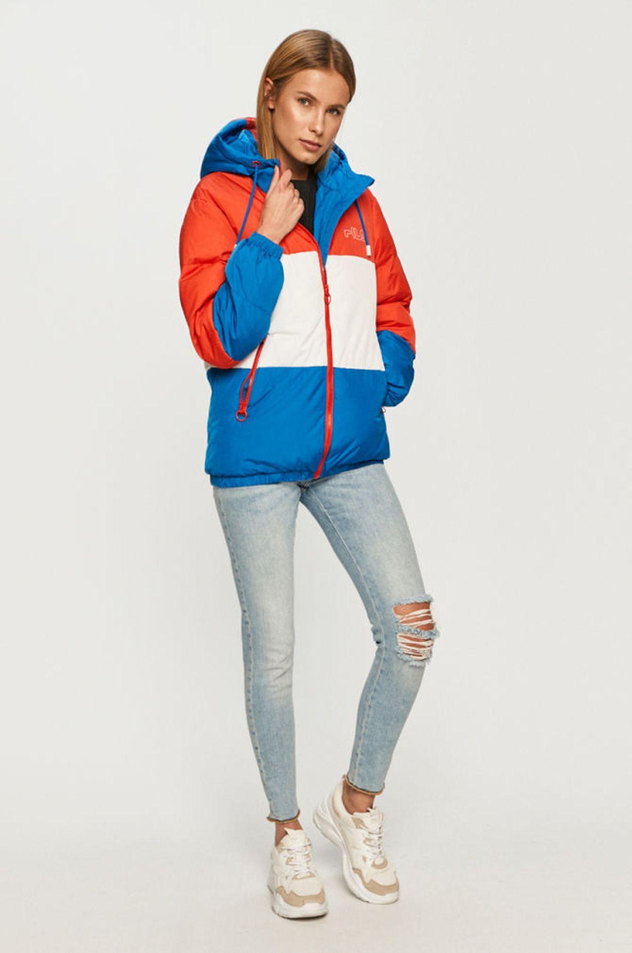 Kolorowa kurtka na zimę