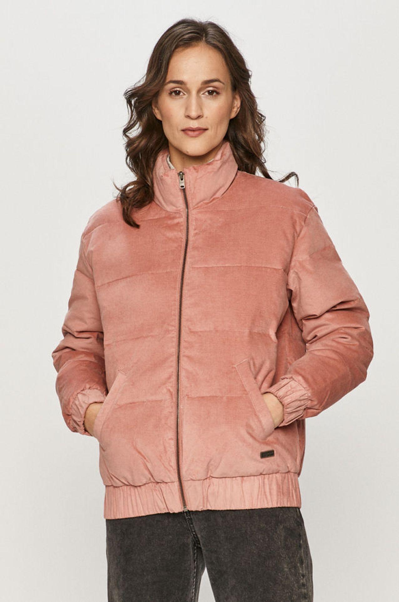 Różowa kurtka na zimę
