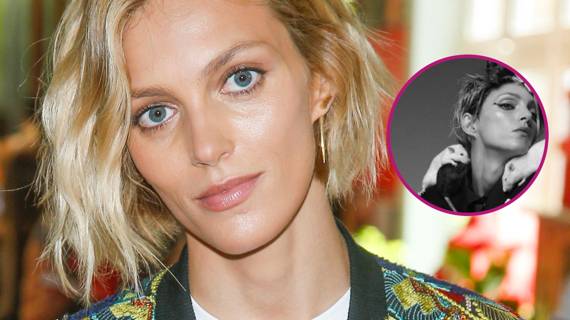 Anja Rubik ze SZCZURAMI na głowie we włoskim Vogue'u. Przerażająca sesja