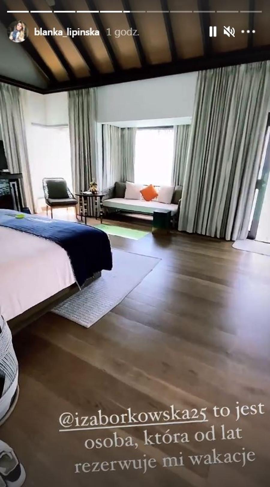 Blanka Lipińska pokazała luksusowy apartament na Malediwach.