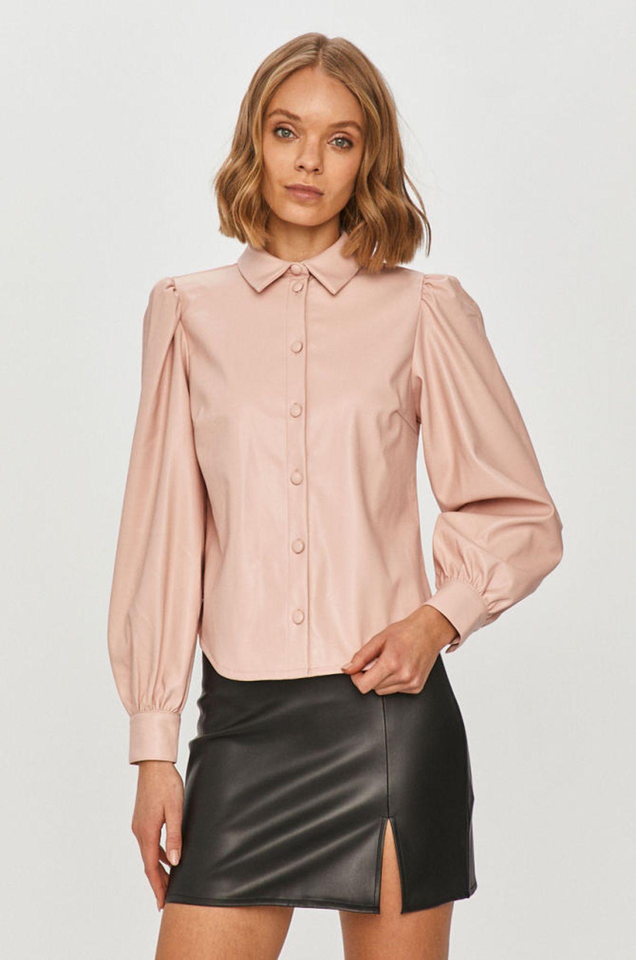 Różowa koszula z bufkami