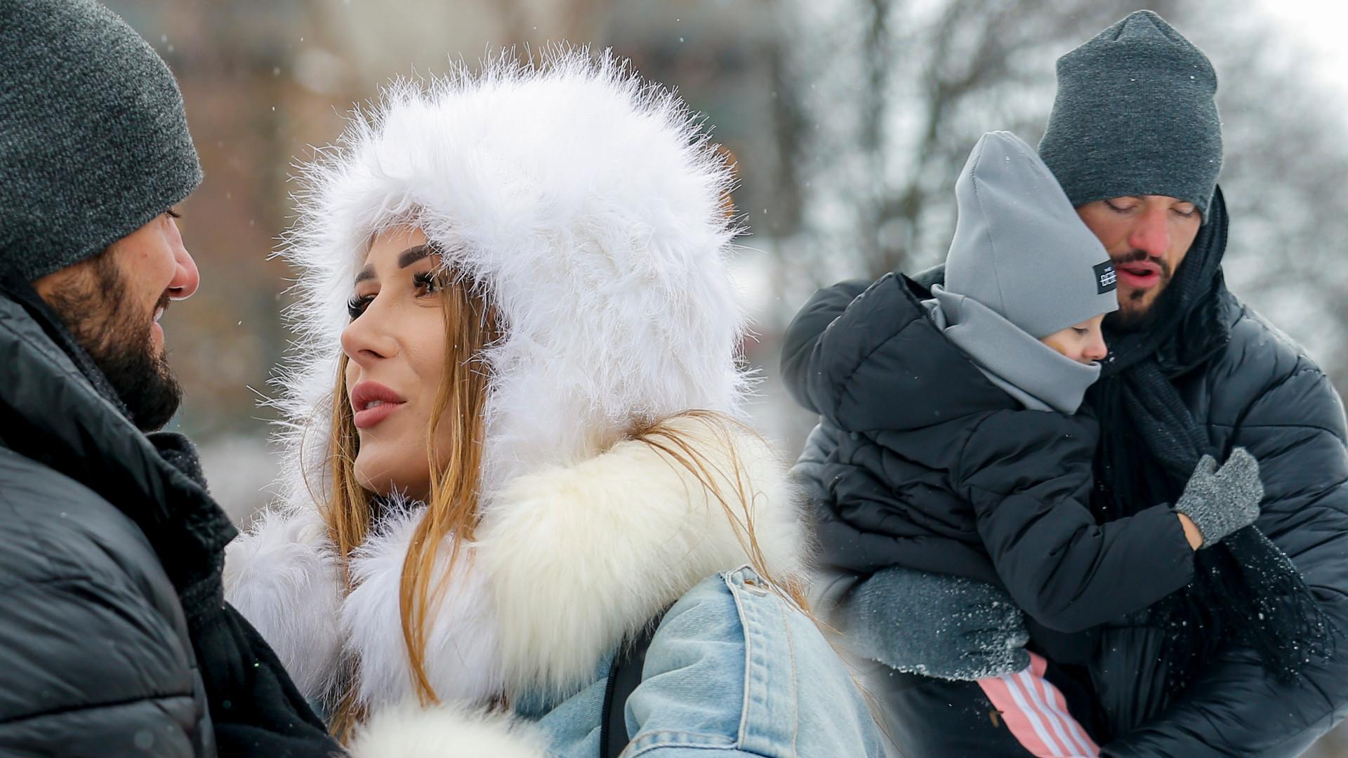 Eliza i Paweł Trybała z córeczkami bawią się na śniegu (ZDJĘCIA)