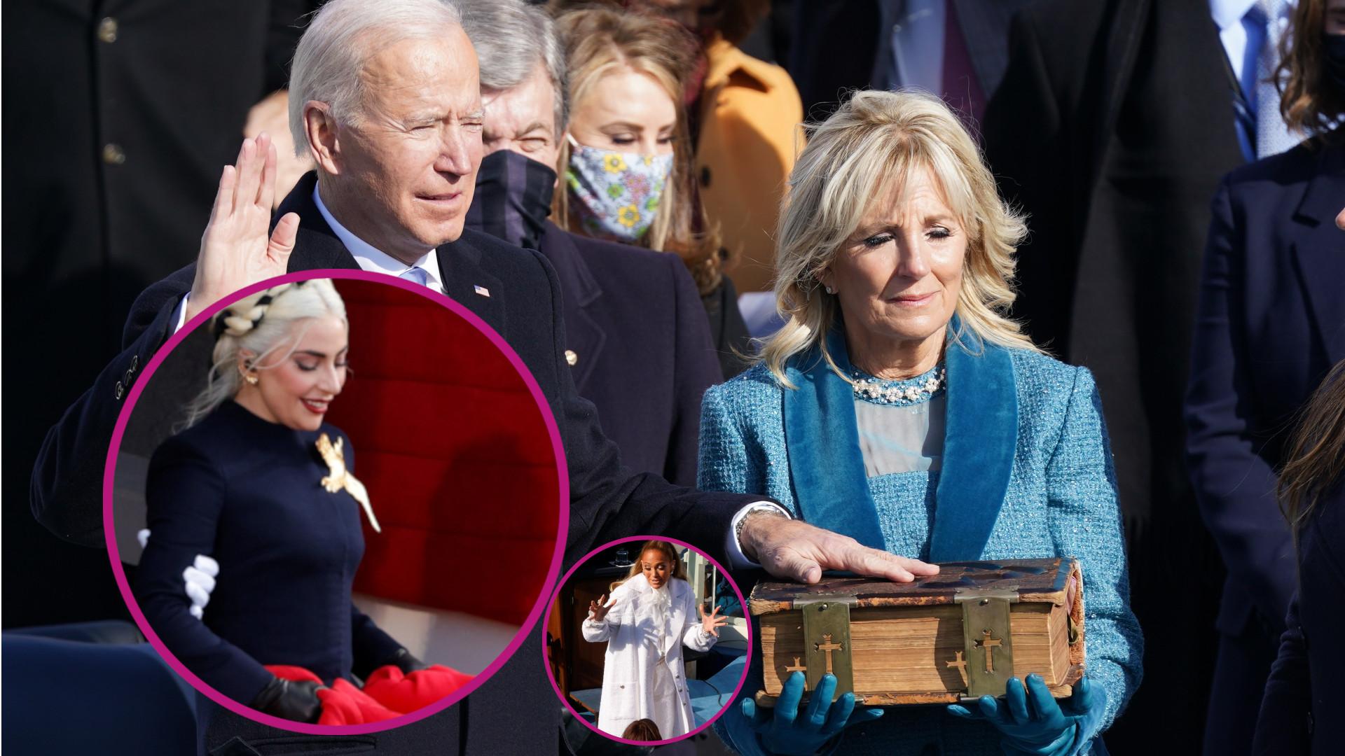 Inauguracja Joe Bidena: Lady Gaga jak księżniczka i zmarszczki J.Lo (ZDJĘCIA)