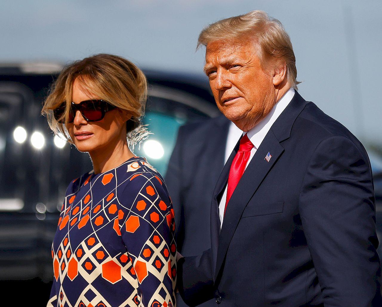 Melania i Donald Trump na Florydzie