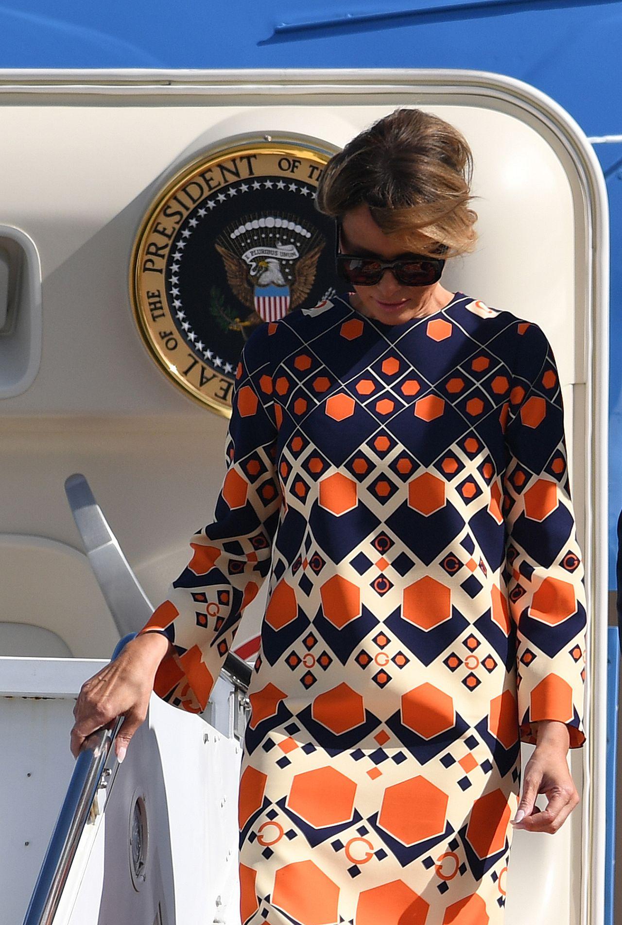 Melania Trump w sukience Gucci