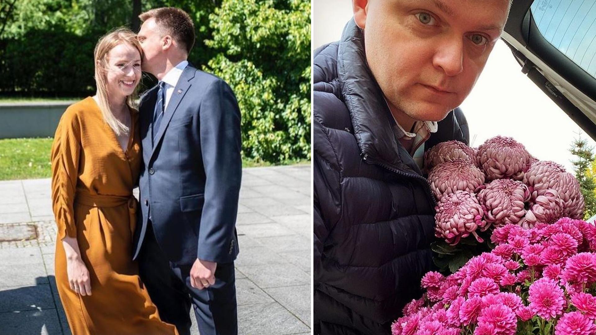 """Szymon Hołownia pokazał zdjęcie ze ślubu: """"To już pięć lat"""""""