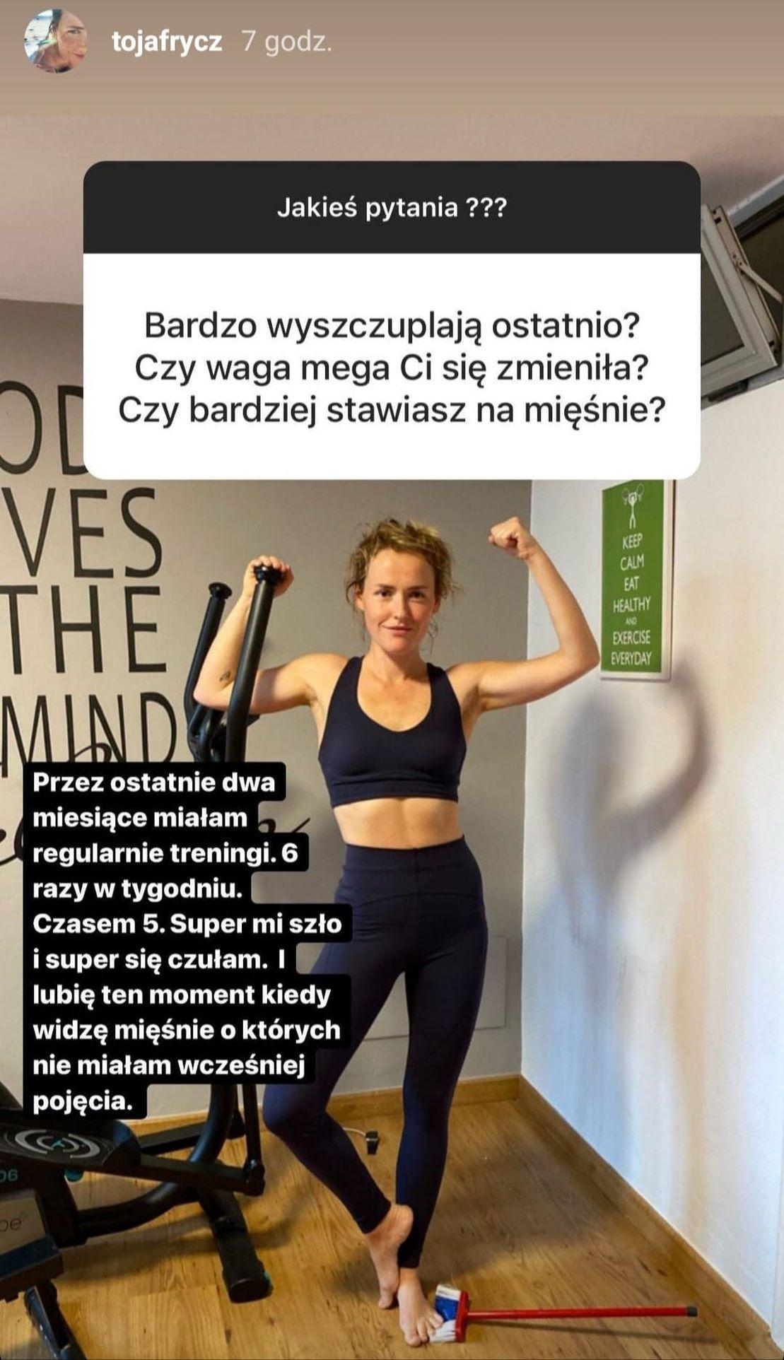 Olga Frycz o swoich treningach