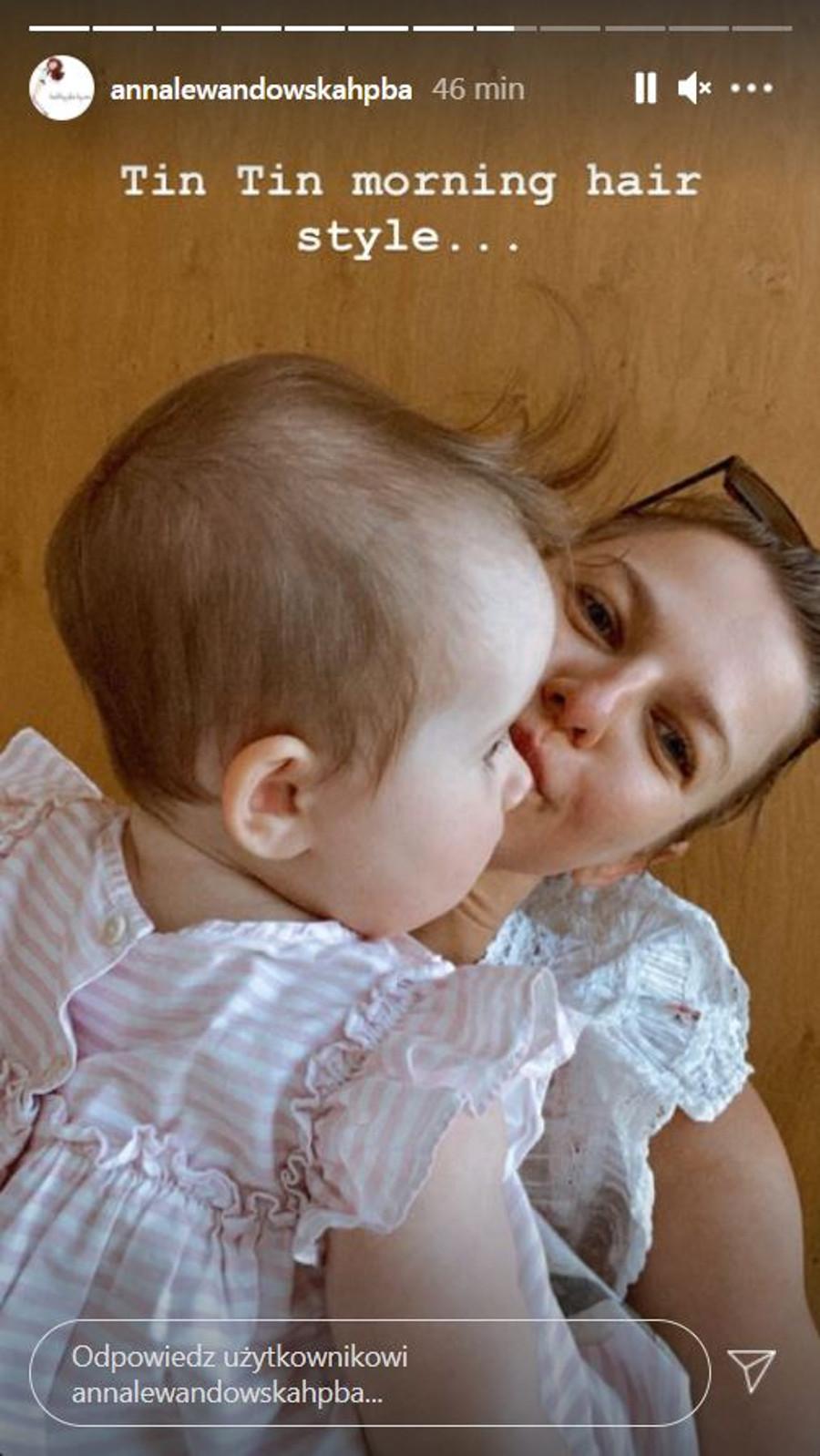 Anna Lewandowska na zdjęciu z Laurą.
