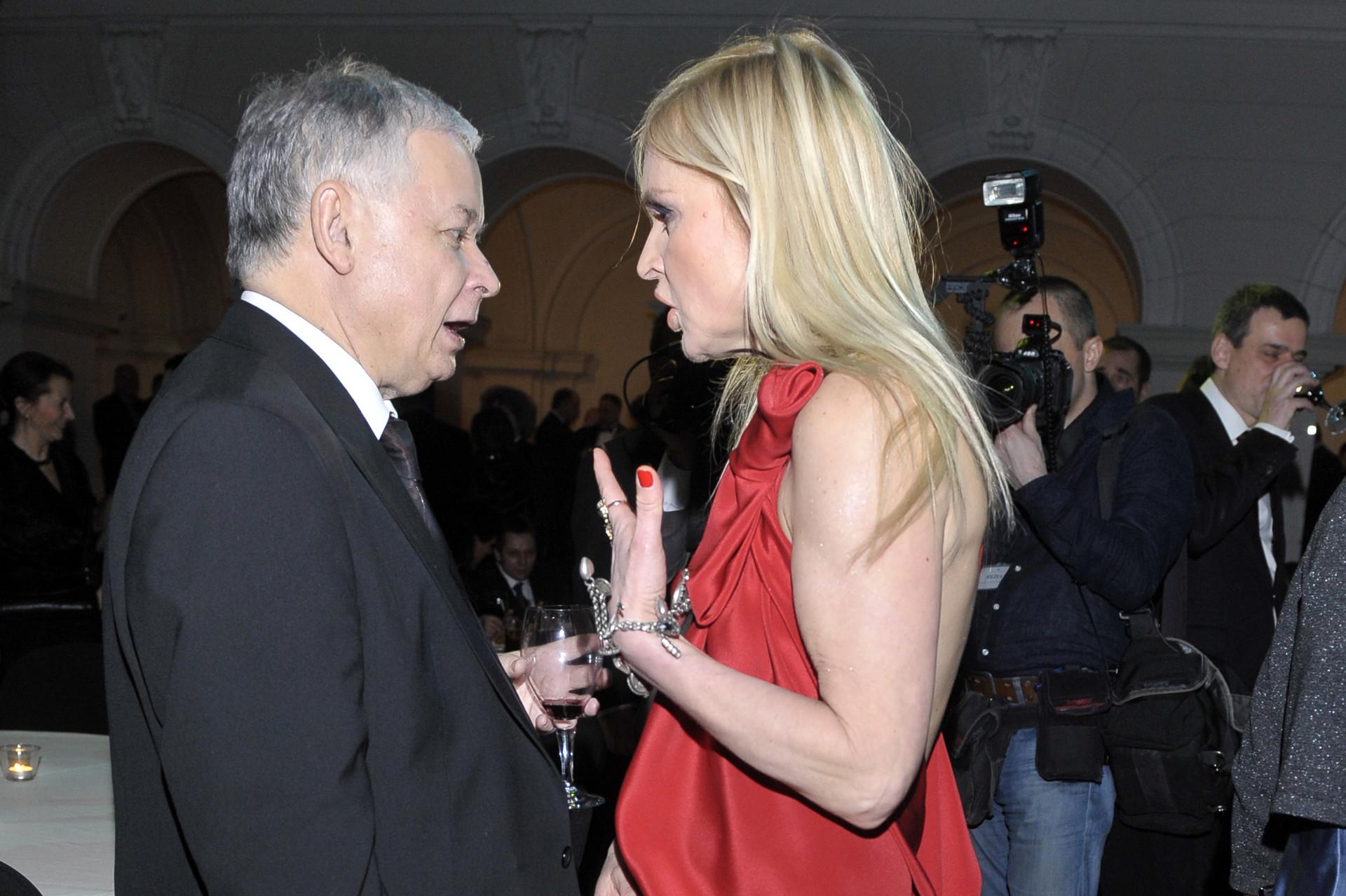 Monika Olejnik i Lech Kaczyński na Balu Dziennikarza