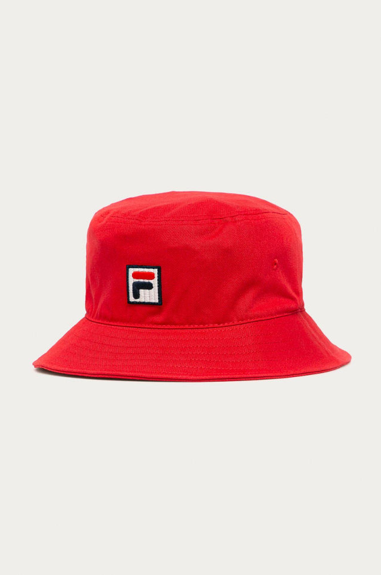 Czerwony buckhet hat