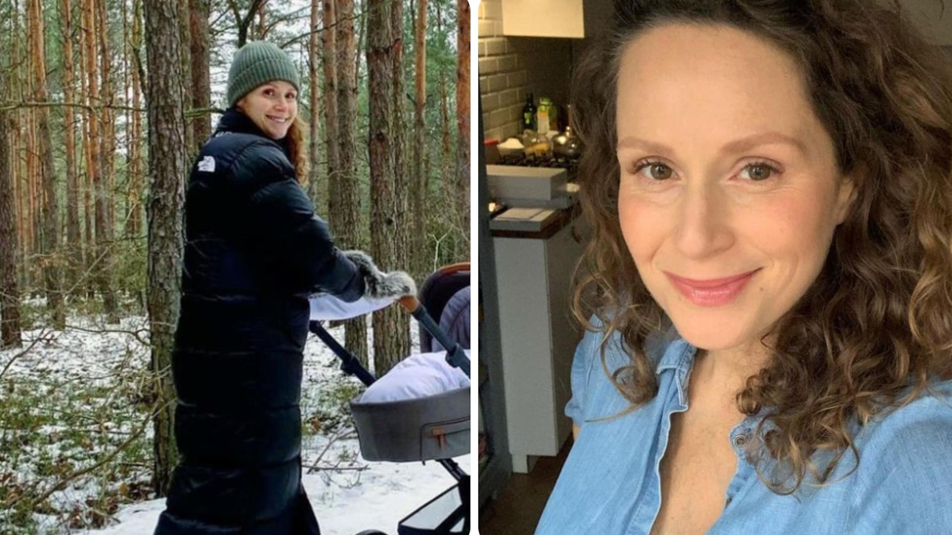 Monika Mrozowska na pierwszym spacerze z synem. Pokazała WÓZEK dla dziecka
