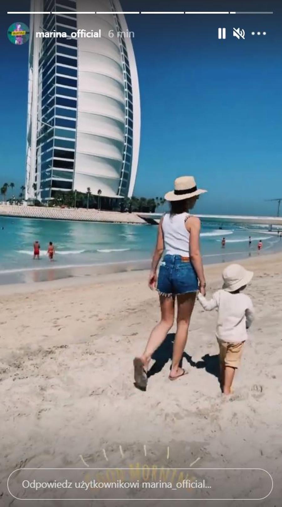 Marina z Liamem w Dubaju.