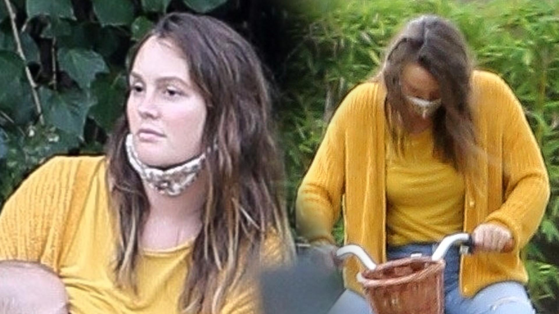 Leighton Meester spędza czas z rodziną i karmi piersią w parku (ZDJĘCIA)