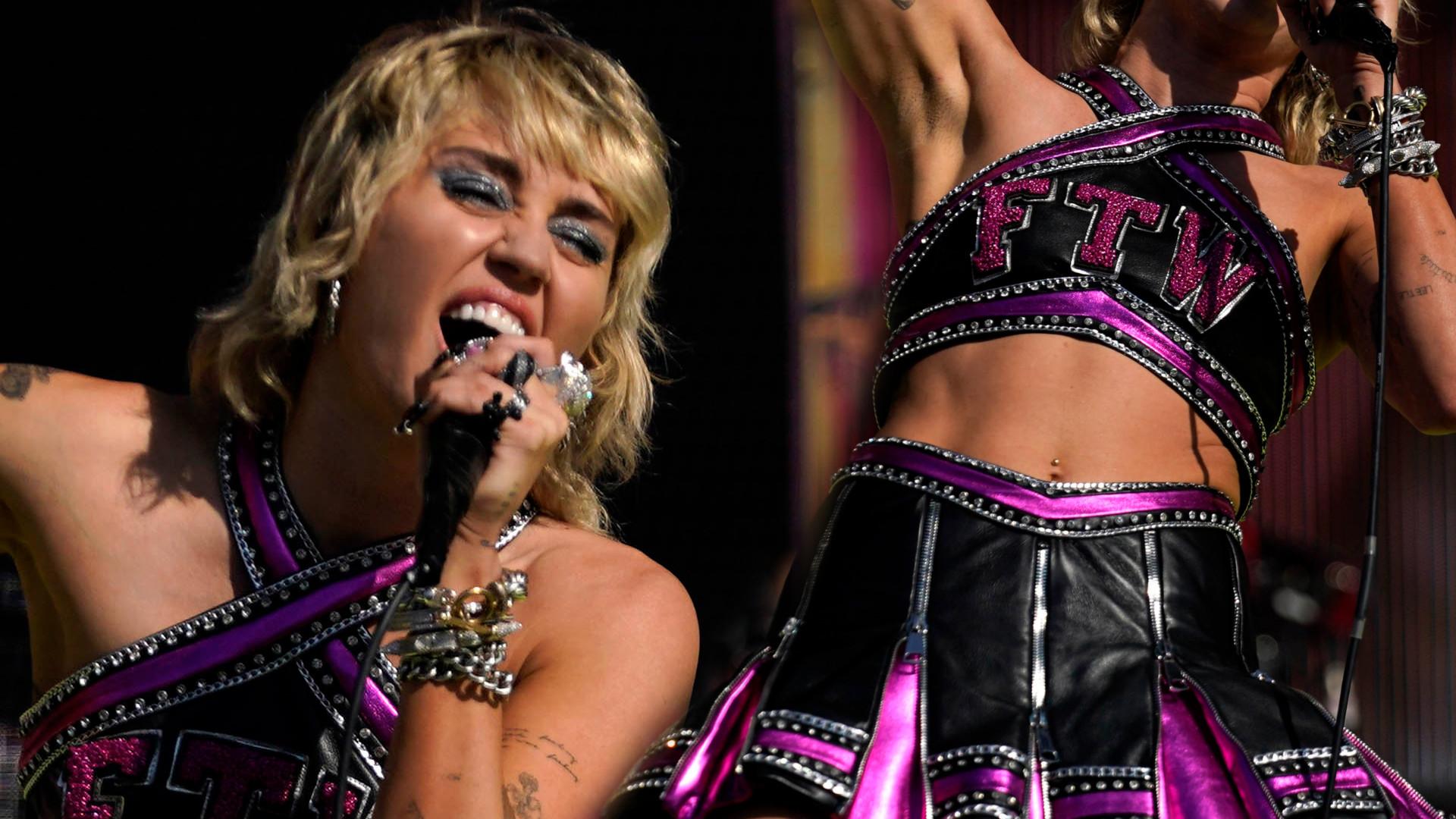Rockowa Miley Cyrus przebrana za cheerleaderkę na Super Bowl 2021