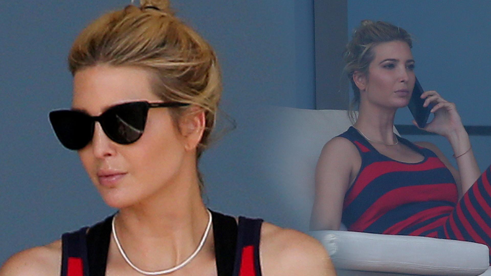 Ivanka Trump w sukience z seksownym rozcięciem relaksuje się na balkonie (ZDJĘCIA)